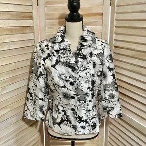 Adrianna Papell Evening Essentials Floral Jacket M